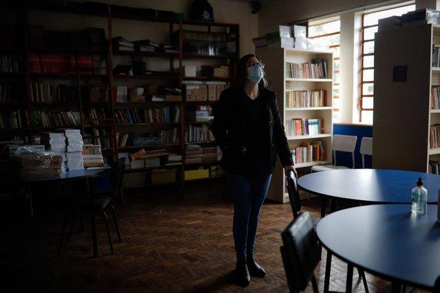 Portão, RS, Brasil - 04/07/2021 - Volta às aulas da rede estadual. EEEF Portão Velho está sem luz desde junho de 2020 devido a incêndio na rede elétrica. (Foto: Anselmo Cunha/Agência RBS)<!-- NICAID(14853151) -->