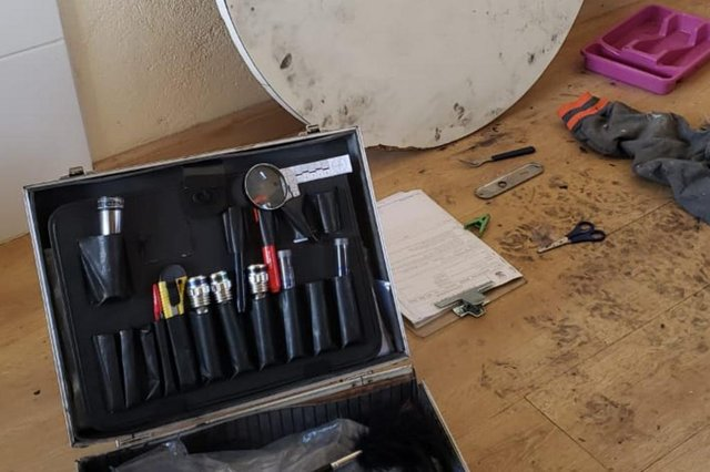 EM BAIXA - fotos da perícia no apartamento onde mulher foi esquartejada em Canoas<!-- NICAID(14729755) -->