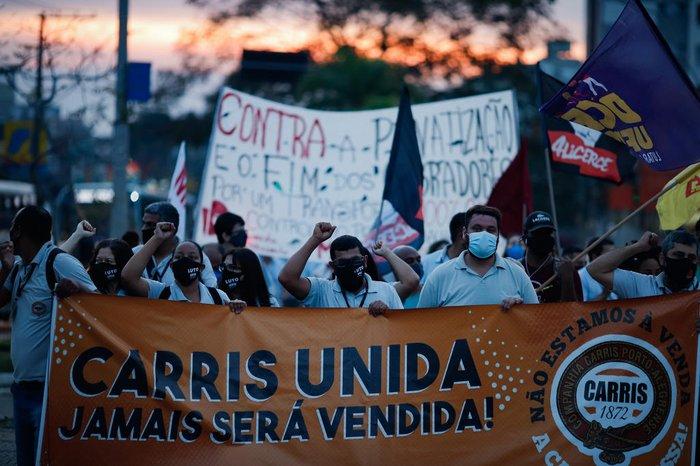 Manifestação afetou o trânsito na região da Bento Gonçalves