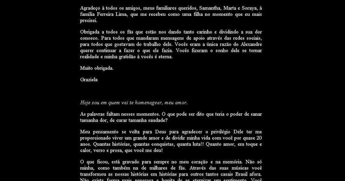 Ex De Chorão Publica Carta De Amor Ao Músico No Site Do Charlie