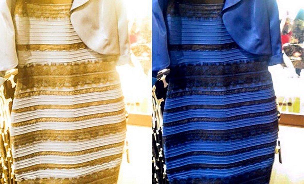Vestido azul e preto e branco e dourado