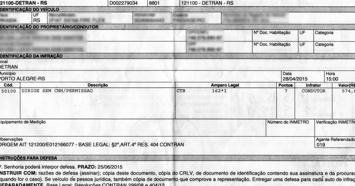 45b95fa65295e Sem dirigir, donos de carros recebem multas por conduzir sem habilitação    GaúchaZH