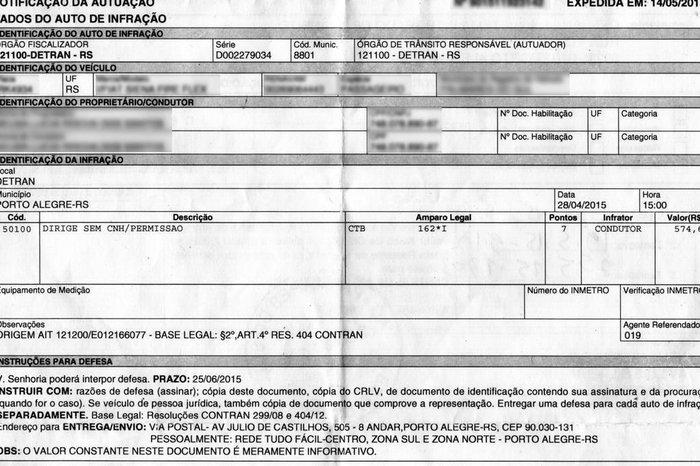 41cc8c4b3722a Reprodução   Reprodução Moradores de Palmares do Sul receberam multa por dirigir  sem ...