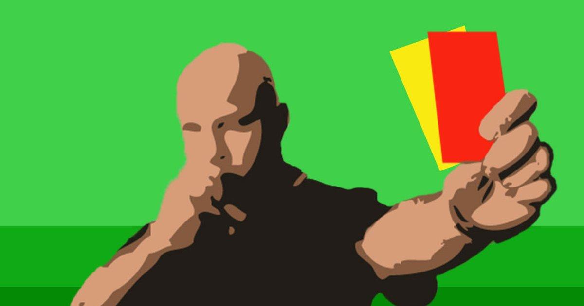 Resultado de imagem para Cartão amarelo e cartao vermelho