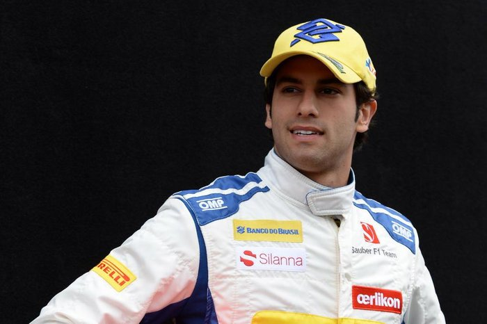 Sauber F1 Teams Brazilian driver Felipe Nasr poses during a driver portrait session ahead of the Australian Formula One Grand Prix in Melbourne on March 12, 2015.    AFP PHOTO / MAL FAIRCLOUGH    -- IMAGE RESTRICTED TO EDITORIAL USE - STRICTLY NO COMMERCIAL USE