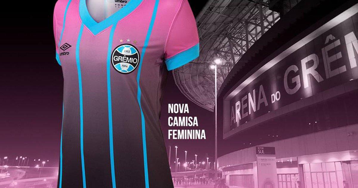 Grêmio lança camisa cor-de-rosa para a torcida feminina  9d08bb3e57733