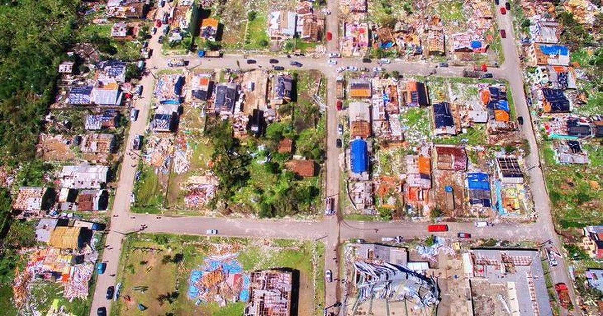 FOTOS: imagens aéreas mostram destruição em São Francisco de Paula |  Pioneiro