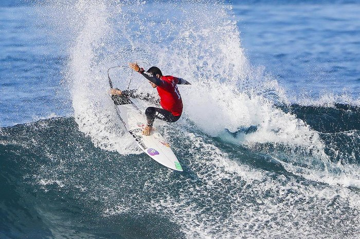 Adriano de Souza of Brazil advances directly to Round Three of the 2017 Hurley Pro Trestles after winning Heat 1 of Round One at Trestles, CA, USA.