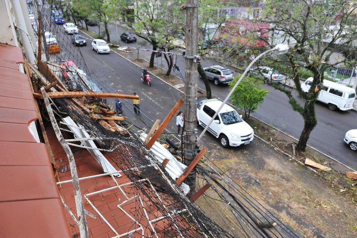 Sobe para 39 o número de cidades atingidas pelo temporal no RS