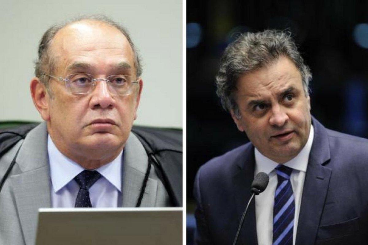 Aécio Neves e Gilmar Mendes mantiveram 43 ligações por WhatsApp
