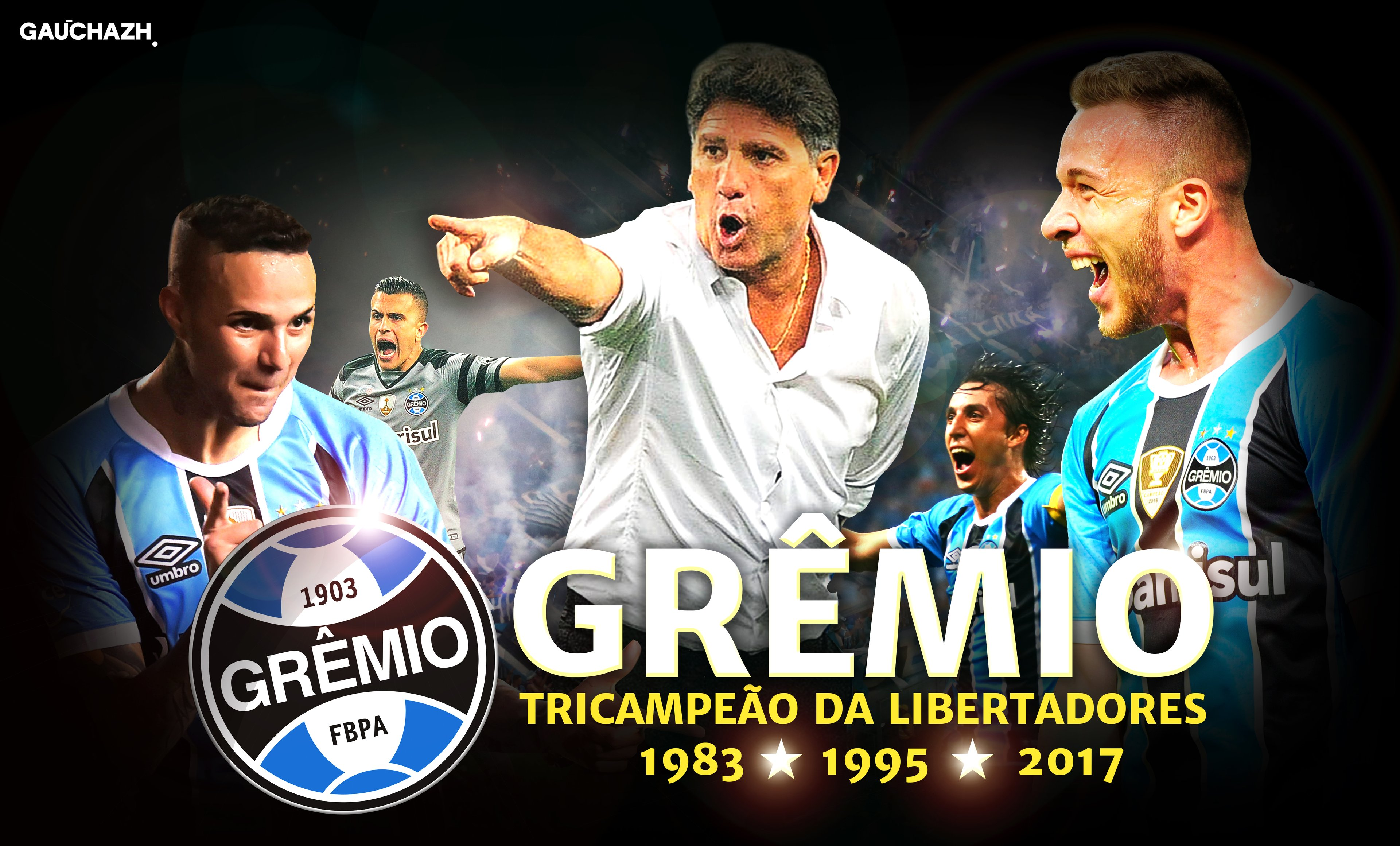 Baixe o wallpaper do Grêmio campeão da Libertadores de 2017  ef13ea560cbfa