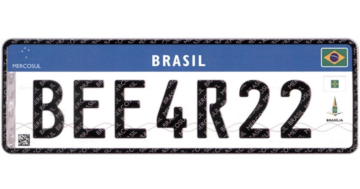 Saiba o que muda nas placas de veículos no padrão do Mercosul