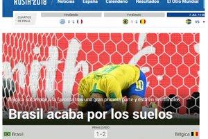 Como a eliminação do Brasil repercutiu na imprensa internacional ... 59baecf619c41