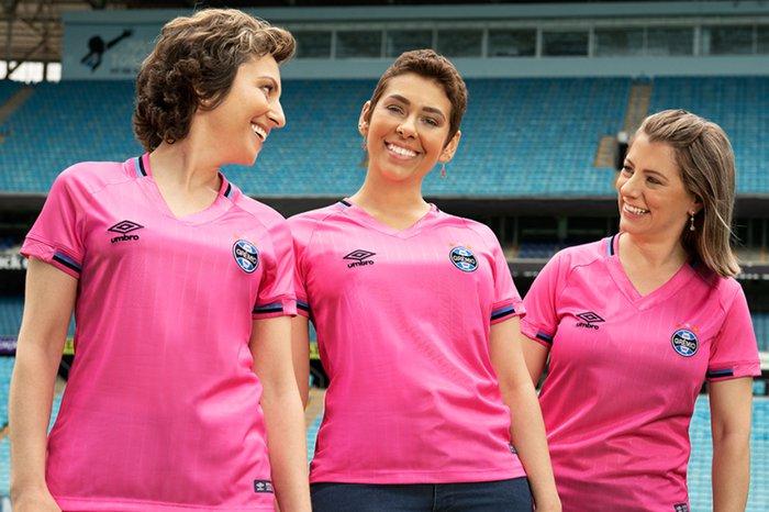 Grêmio lança nova camisa para promover campanha do Outubro Rosa ... 44098b67b5036
