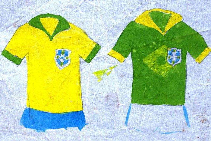 Arquivo pessoal   Arquivo pessoal Esboços de Schlee para as camisas da Seleção  BrasileiraArquivo ... aaf290bce18c0