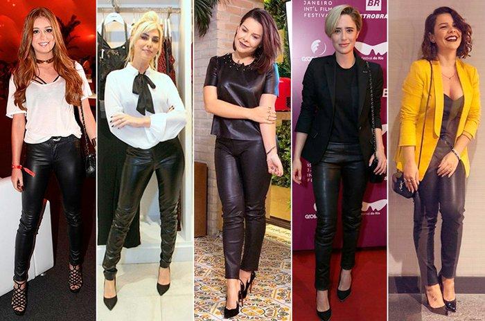 0cb620ff2 Calça de couro preta: aprenda a usar uma peça em vários looks | Donna