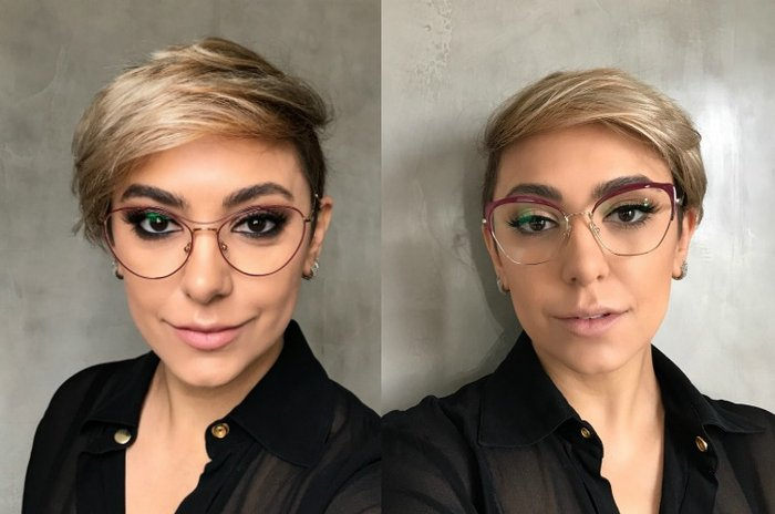 e85ba11605eb8 Quem usa óculos vira e mexe fica na dúvida  como valorizar os olhos sem  exagerar na dose nem esconder a maquiagem atrás das lentes