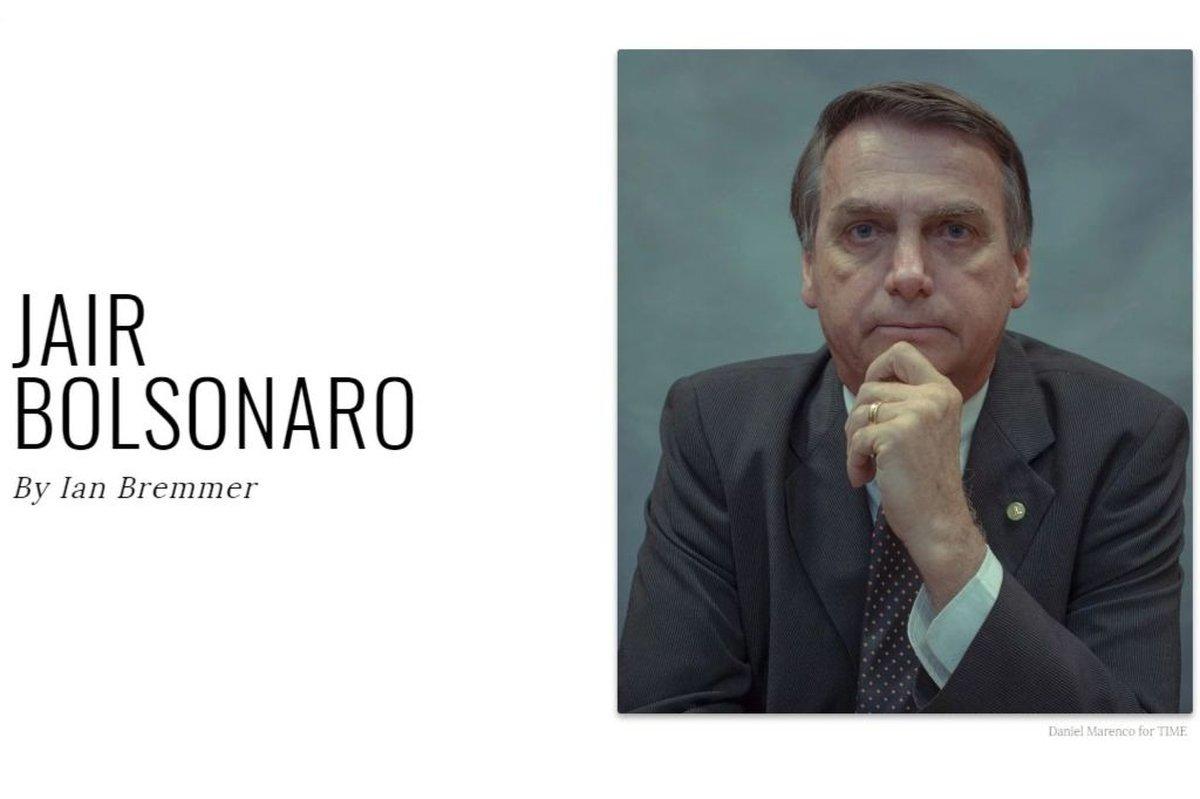Bolsonaro é incluído na lista das 100 pessoas mais influentes do mundo da Revista Time