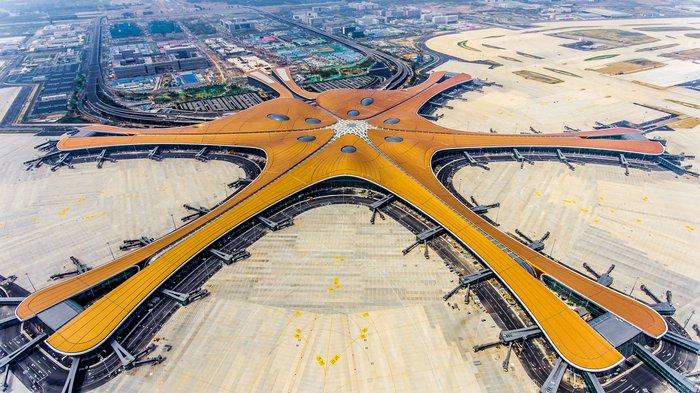 Resultado de imagem para Pequim inaugura novo aeroporto internacional e maior terminal do mundo
