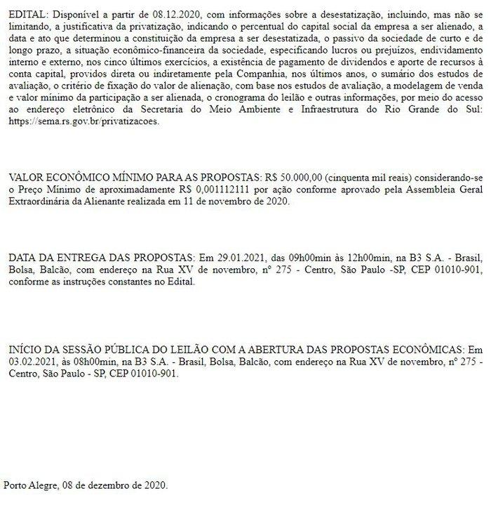 Diário Oficial do Rio Grande do Sul / Divulgação