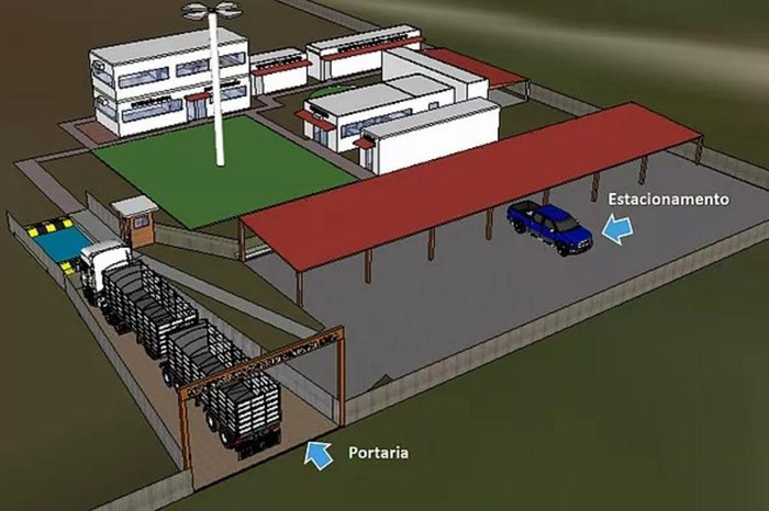 Projeto da Fazenda CMS para a área administrativa
