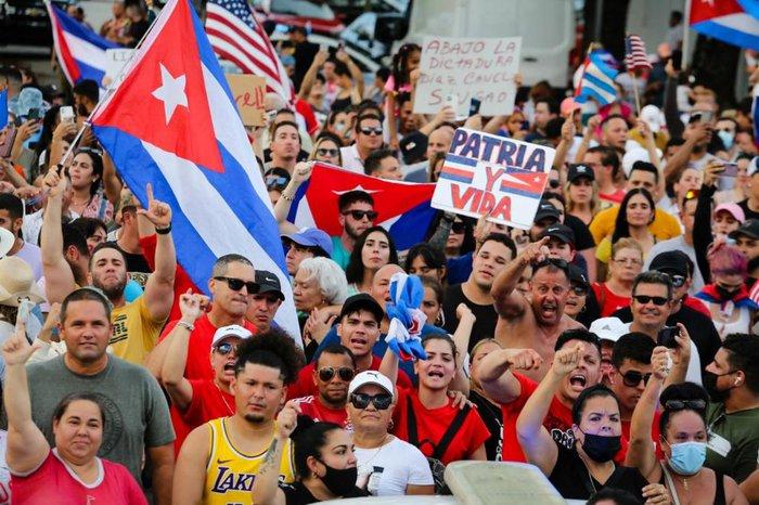 Protestos ocorreram em mais de uma cidade cubana
