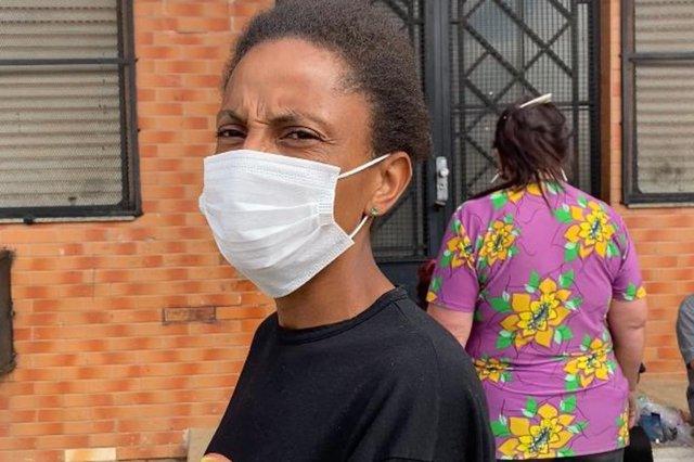 Raquel Alves da Fontoura, 36 anos, moradora Ilha do Pavão. Case pobreza menstrual<!-- NICAID(14889620) -->